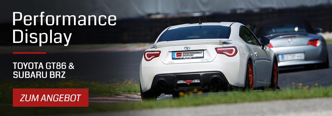 Performance Displays für den Toyota GT86